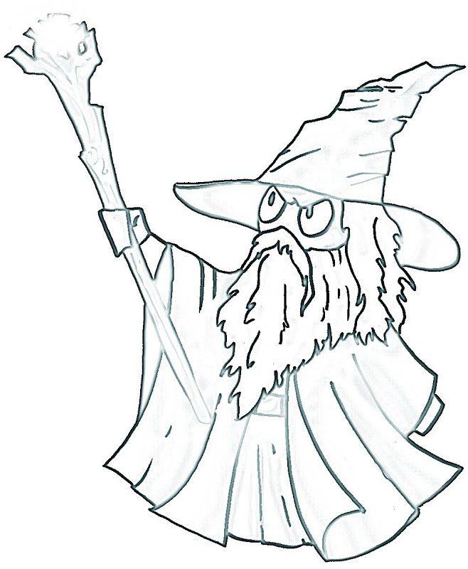 gandalf the hobbit coloring pages - Hobbit Dwarves Coloring Pages
