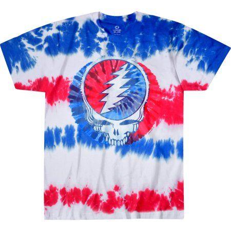 728f1ecaeae7 Grateful Dead Logo Men's Tie Dye Graphic Tee, Size: Small, Multicolor