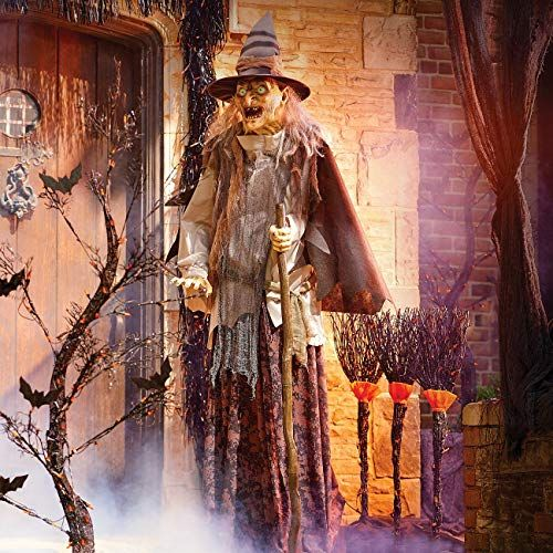 Improvements Lunging Haggard Witch Prop Animated Hallowee