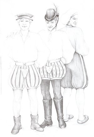 FF04 - Medieval and Renaissance Paned Slops and Breeches Sewing ...