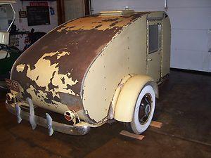 1930s 1940s antique teardrop jim dandy camper vintage for Ebay motors car trailers
