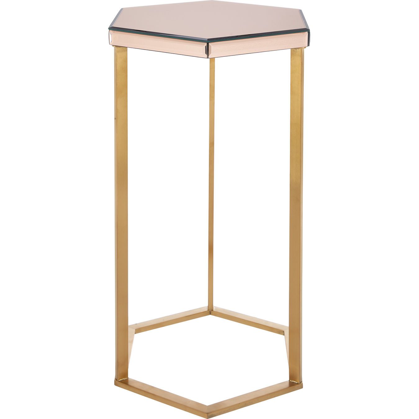 Rose Gold Tone Mirrored Side Table Living Room Home Tk Maxx