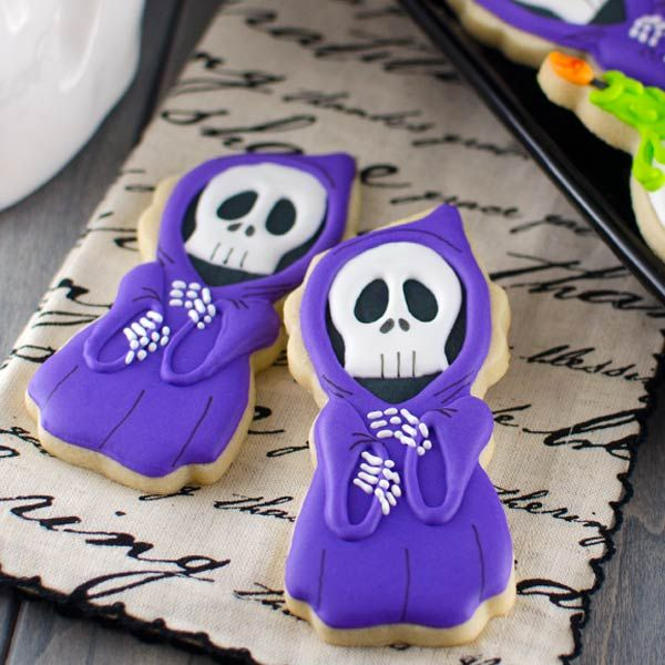 Halloween Grim Reaper Cookies – Semi Sweet Designs