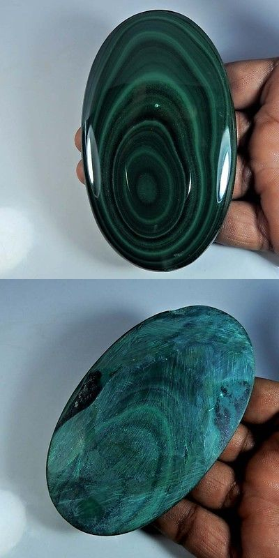 Malachite 10236: Natural Green Malachite Oval Cabochon Sublime!! Gemstone 62X100x12mm. -> BUY IT NOW ONLY: $64.99 on eBay!