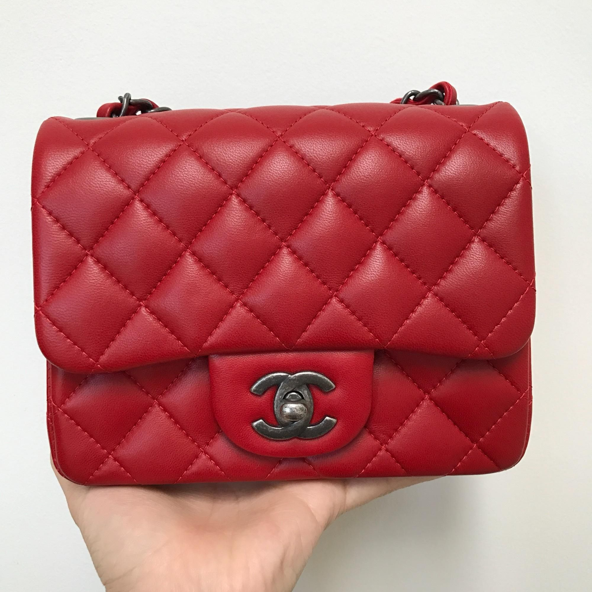 427ca6021f4 Get the trendiest Cross Body Bag of the season! The Chanel Mini Flap Red Cross  Body Bag is a top 10 member favorite on Tradesy.