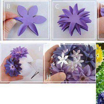 Pomyslowi Net Paper Flowers Flower Crafts Diy Flowers
