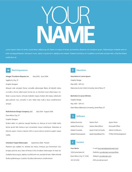 Want a resume that will set you apart from others? Take a look at - some resume formats