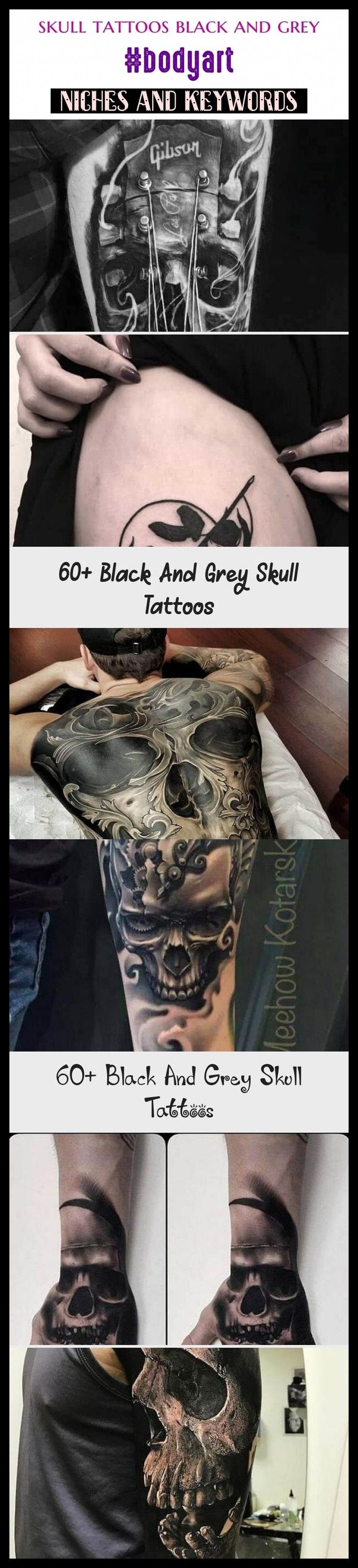 Photo of Schädel Tattoos schwarz und grau #bodyart #seo #tattoos. Schädel Tattoos für Frauen, sk …