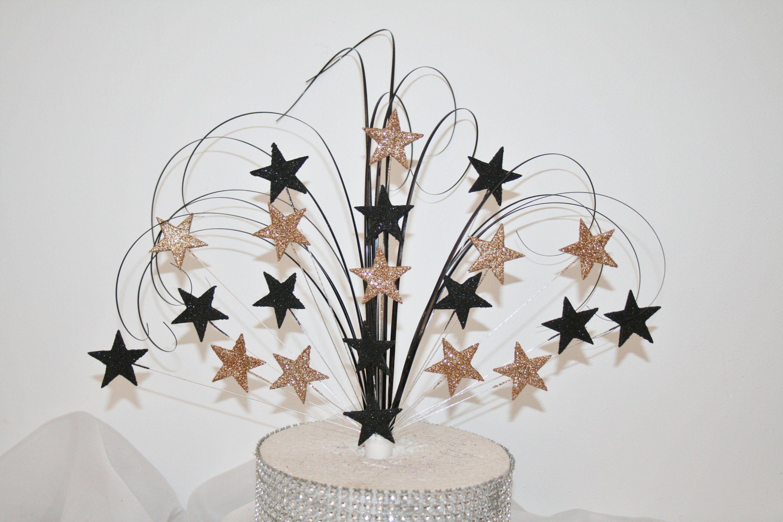 Stars Glittered Cake Topper Spray, Cake Decoration ...