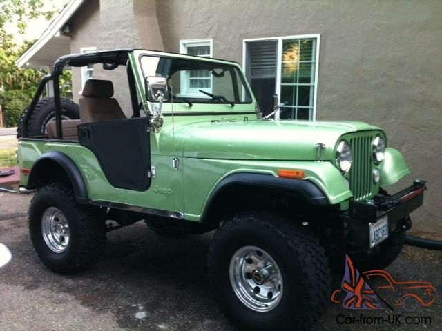 76 Jeep CJ 5 (silver green) are they sure that it is a Jeep Wrangler
