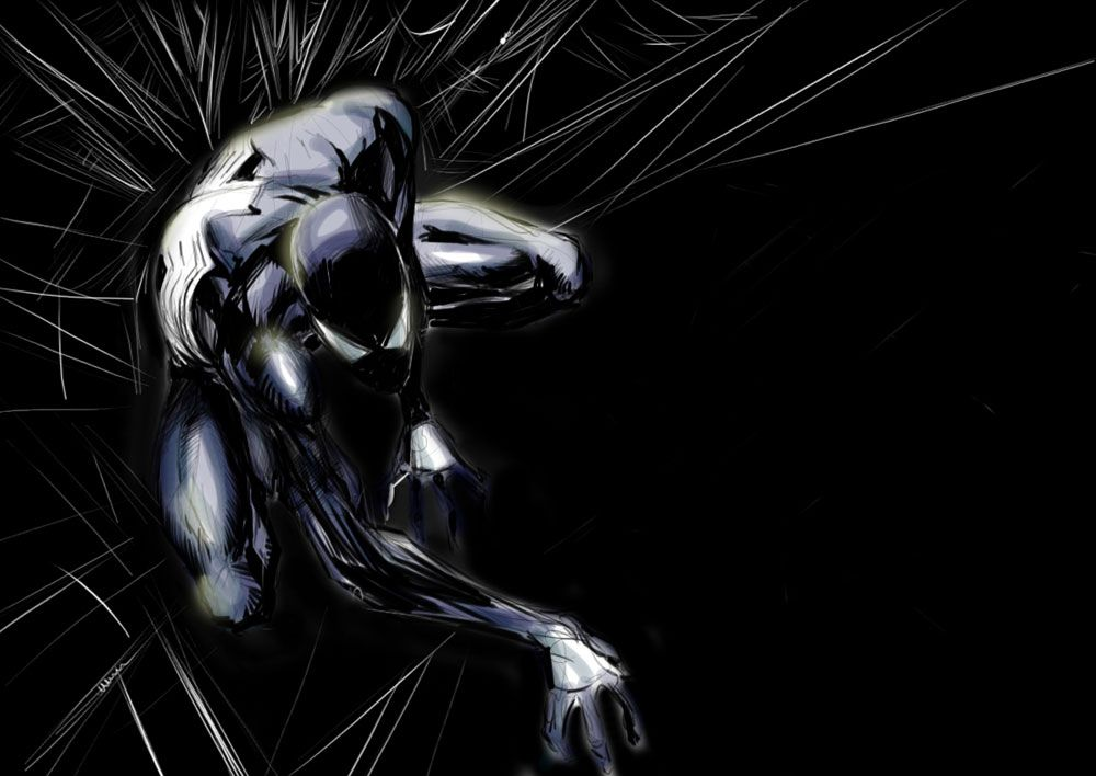 Spider man wallpaper my new spider man wallpaper marvel - Black and white spiderman wallpaper ...