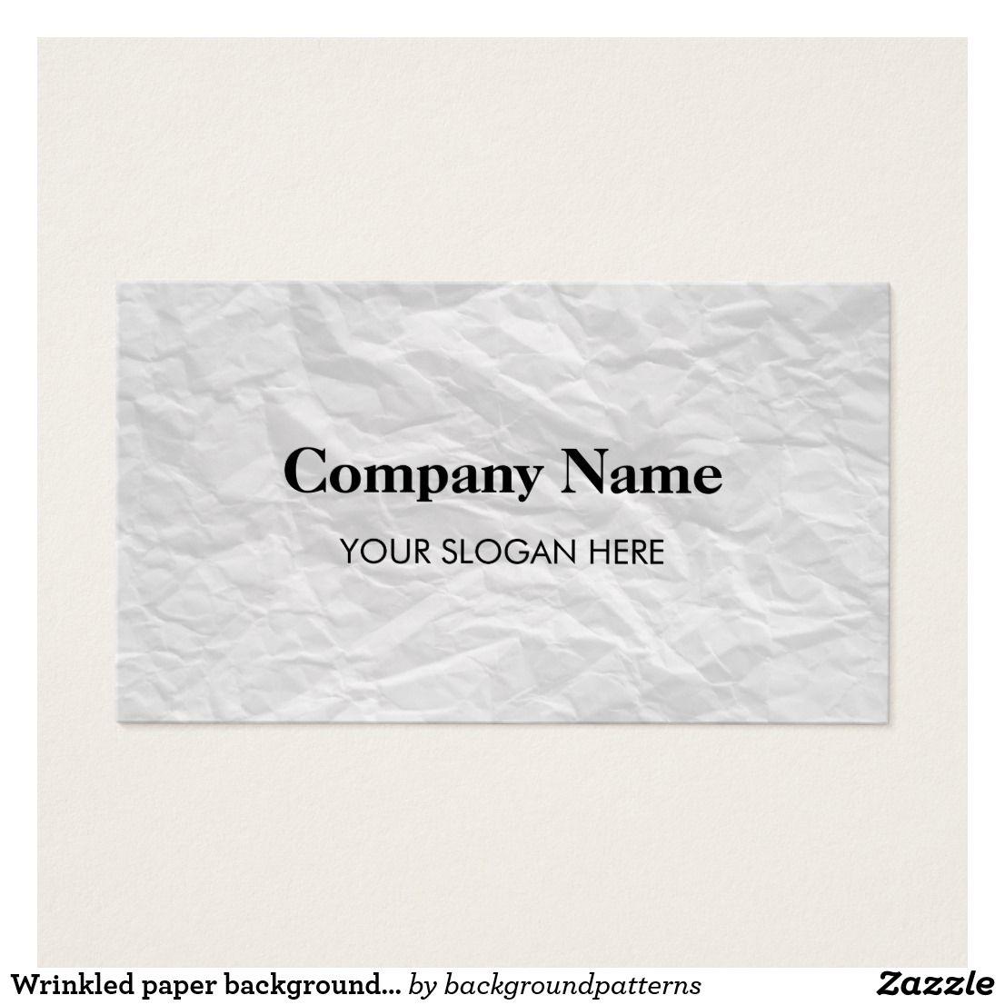 Wrinkled Paper Background Business Card Design Zazzle Com Business Card Design Professional Business Cards Templates Wrinkled Paper Background