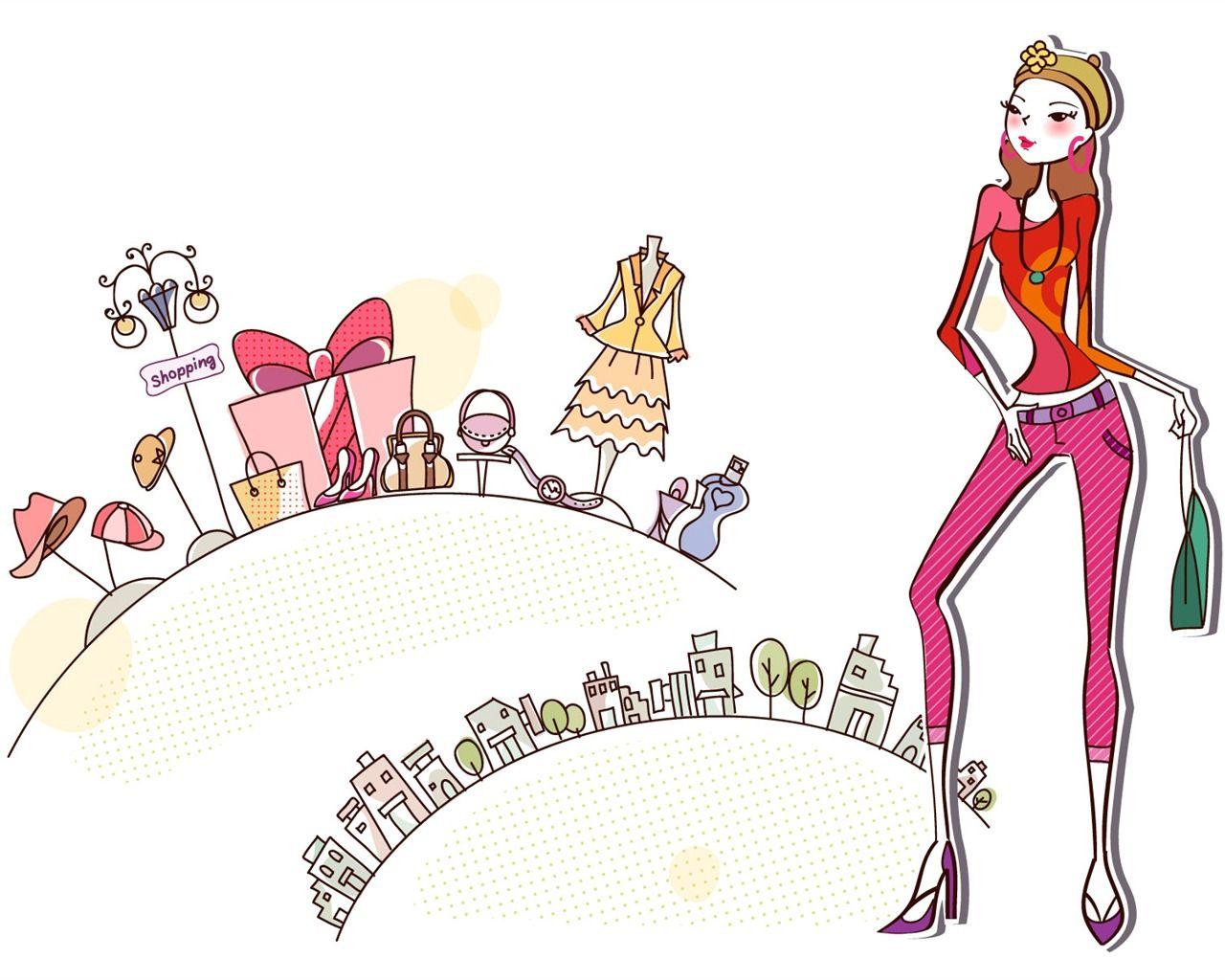 Compras Moda Mujer Fondos De Pantalla (4) #5