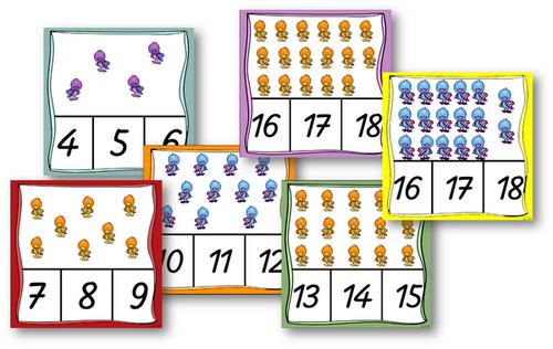 ~Des cartes à compter petits zoziaux~ | Mathématiques ...