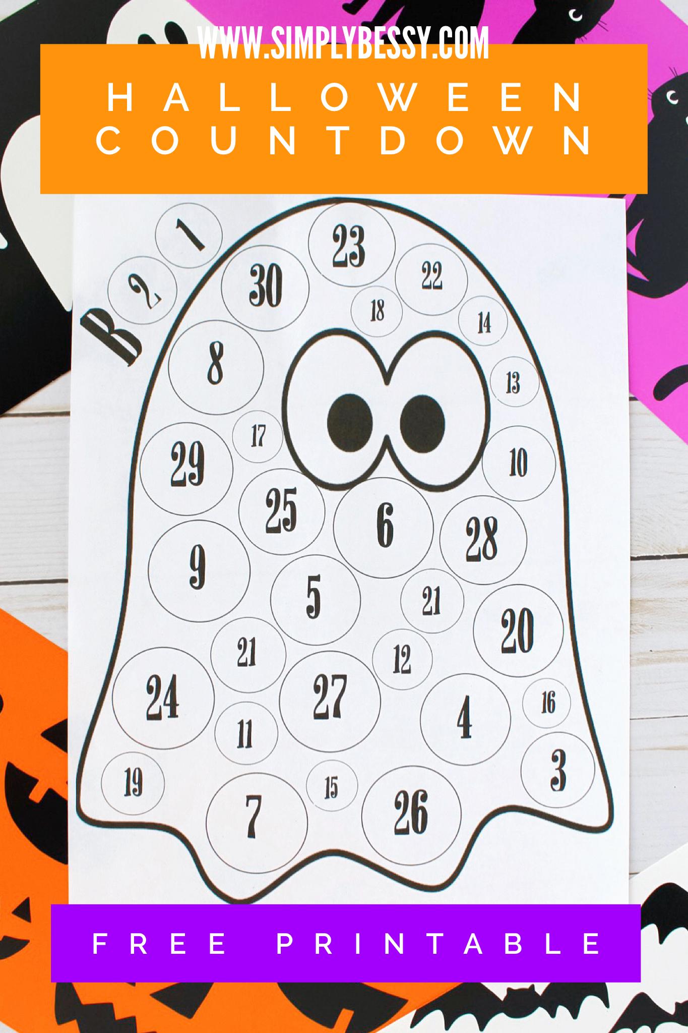 Free Printable Halloween Countdown