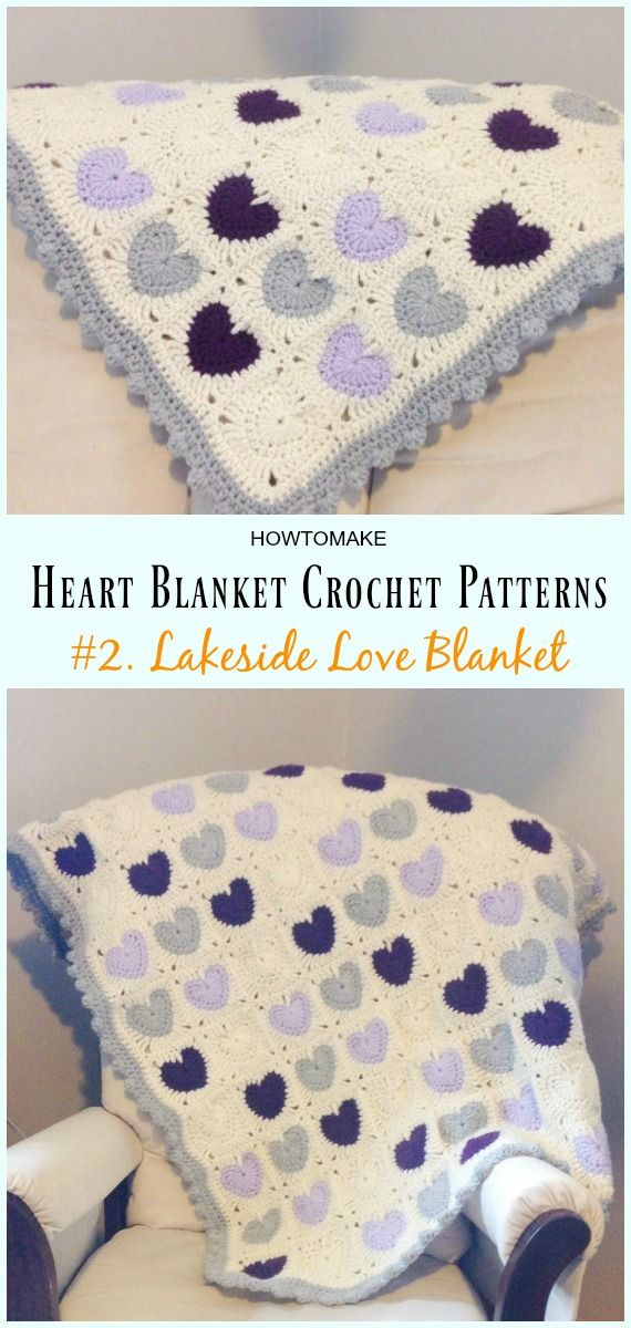 Heart Blanket Crochet Patterns Free and Paid | CROCHET | Pinterest ...