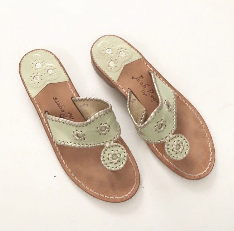 81bad93a8160 Womens Jack Rogers Sandals Light Green With Gold Trim Size 9  fashion   clothing  shoes  accessories  womensshoes  sandals (ebay link)