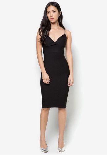 1d043ab160 MISS SELFRIDGE Black Waffle Dress 貼身連身裙 | MISS SELFRIDGE ...