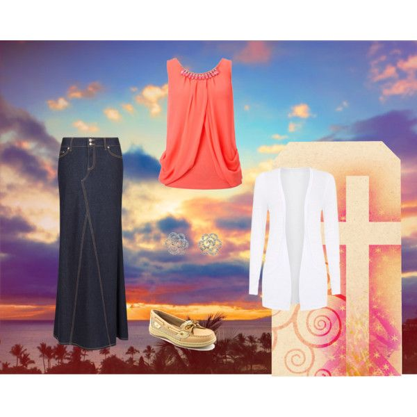 Coral by ModestPrep on polyvore