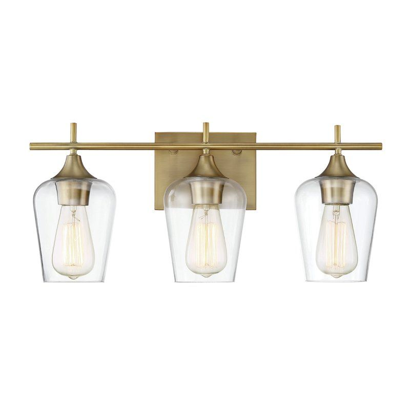 The staci 3 light vanity light from zipcode design has understated elegance it features