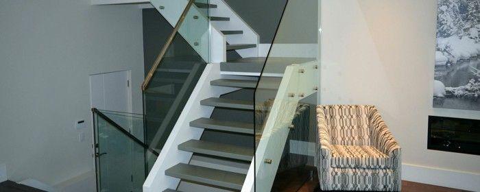 Elegant Aluminium Stairs Design 40 Stair Railings Of Glass Airy Feel In The  Interior Design Of