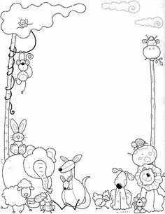 Marcos Infantiles Para Colorear Az Dibujos Para Colorear Caratulas Escolares Dibujos Bordes Para Caratulas