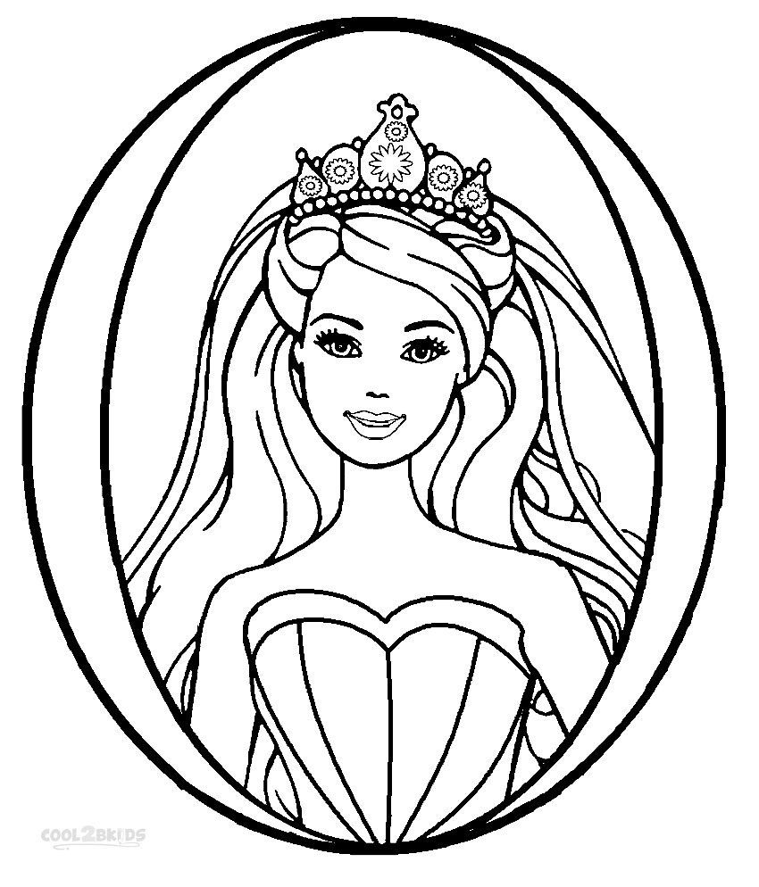 Printable Barbie Princess Coloring Pages For Kids Cool2bKids
