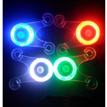 Bike Bicycle Cushion Soft Silicone Spoke Light LED Taillight 4 Colors