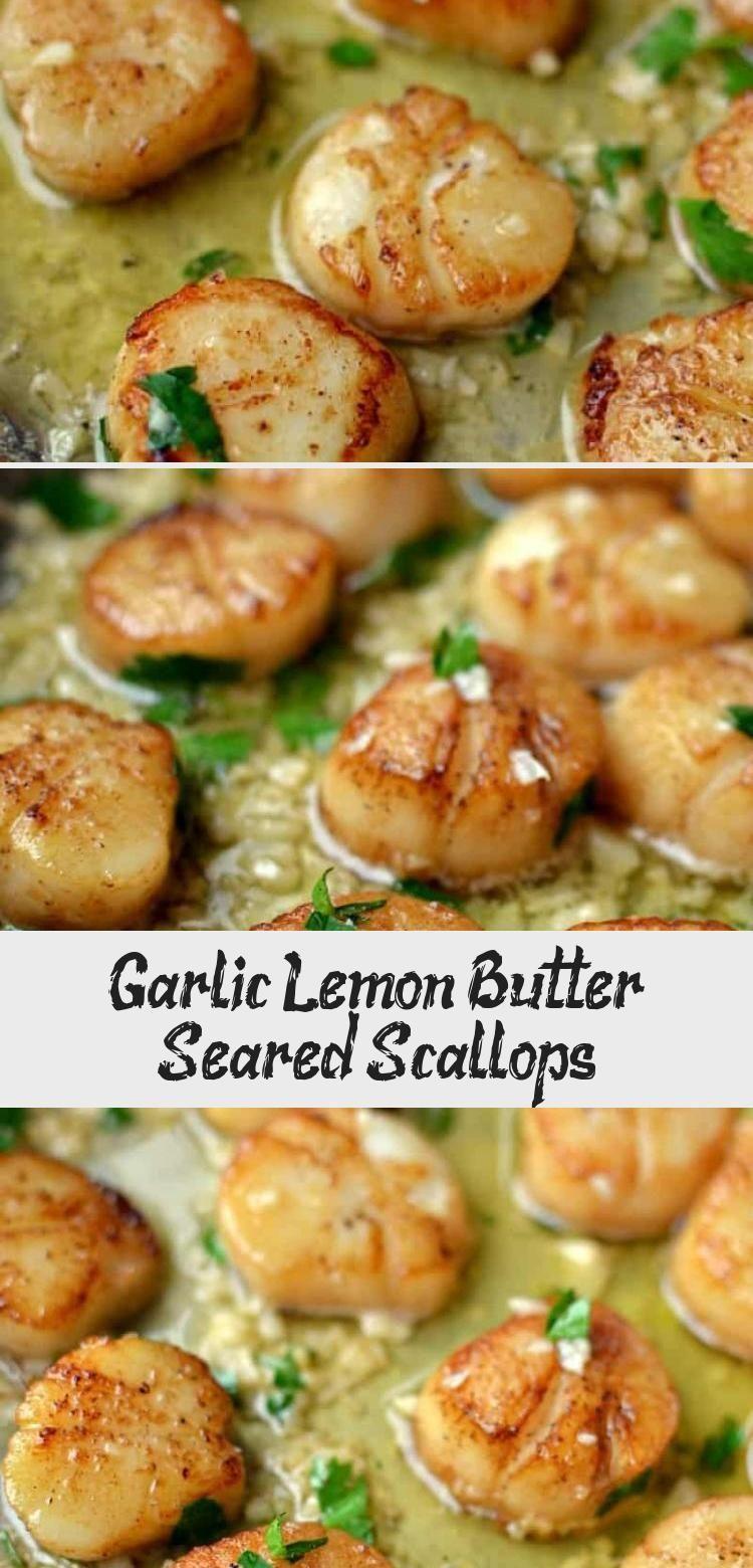 Garlic Lemon Butter Seared Scallops - Kayla's Blog - Recipes -