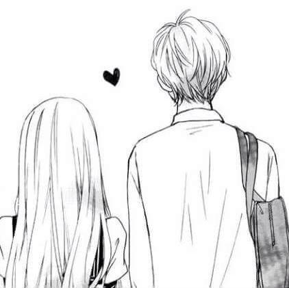 Love couple and anime kép