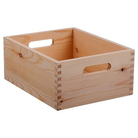 Hand Made Modern Small Wood Crate Square 5 X 12 X 9 Shes
