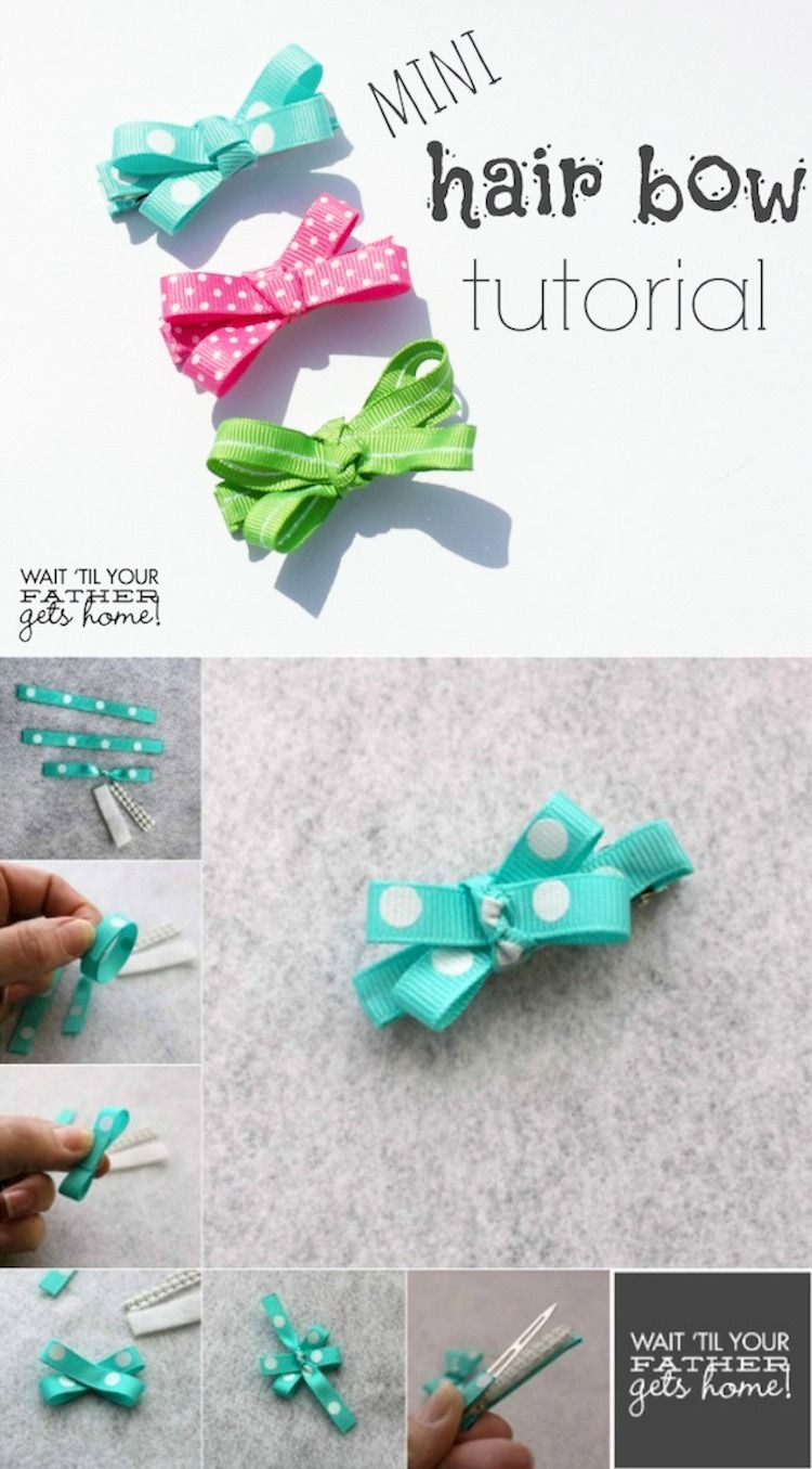 Hair Bow Tutorial Diy Hair Bows Hair Bow Tutorial Baby Bows