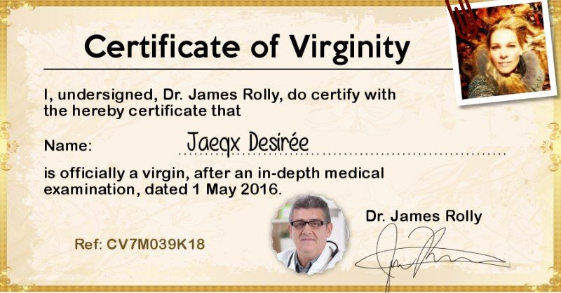 Get your virginity certificate! | BAHAHAHAHAHAHA | Pinterest