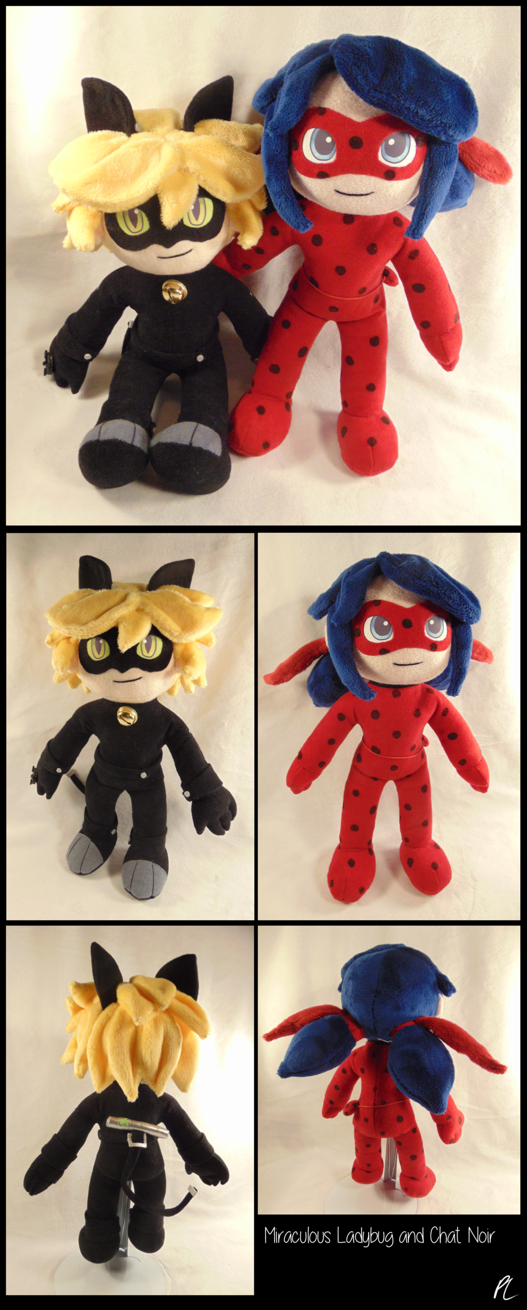 Ladybug And Chat Noir Plushies By Dizziedoodles Miraculous Ladybug Toys Ladybug Miraculous Ladybug