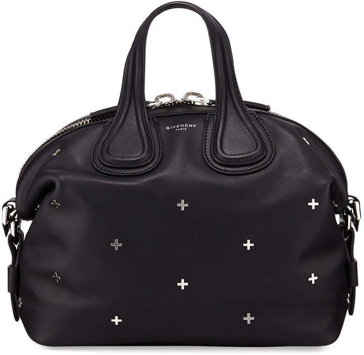 885e7fc40fea Givenchy Nightingale Small Studded Leather Satchel Bag