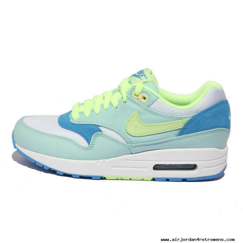 pretty nice 51def 6019a Womens Nike Air Max 1 Julep Liquid Lime Coast White Shoes