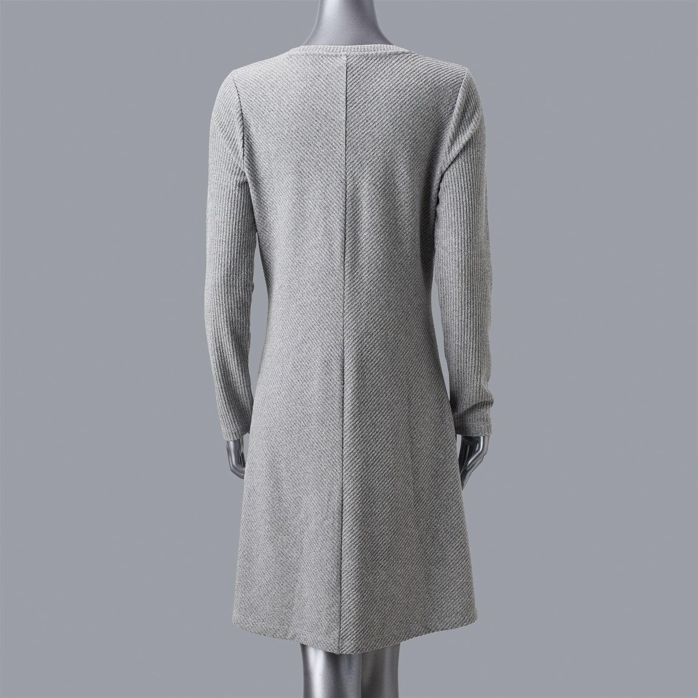0dade2cbd20 Petite Simply Vera Vera Wang Luxe Fit   Flare Sweater Dress  Vera ...