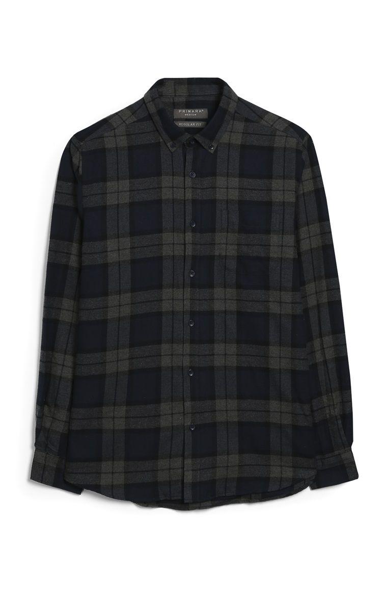 9 Primark Camisa De Franela Gris A Cuadros Camisa De Franela Franelas Camisas