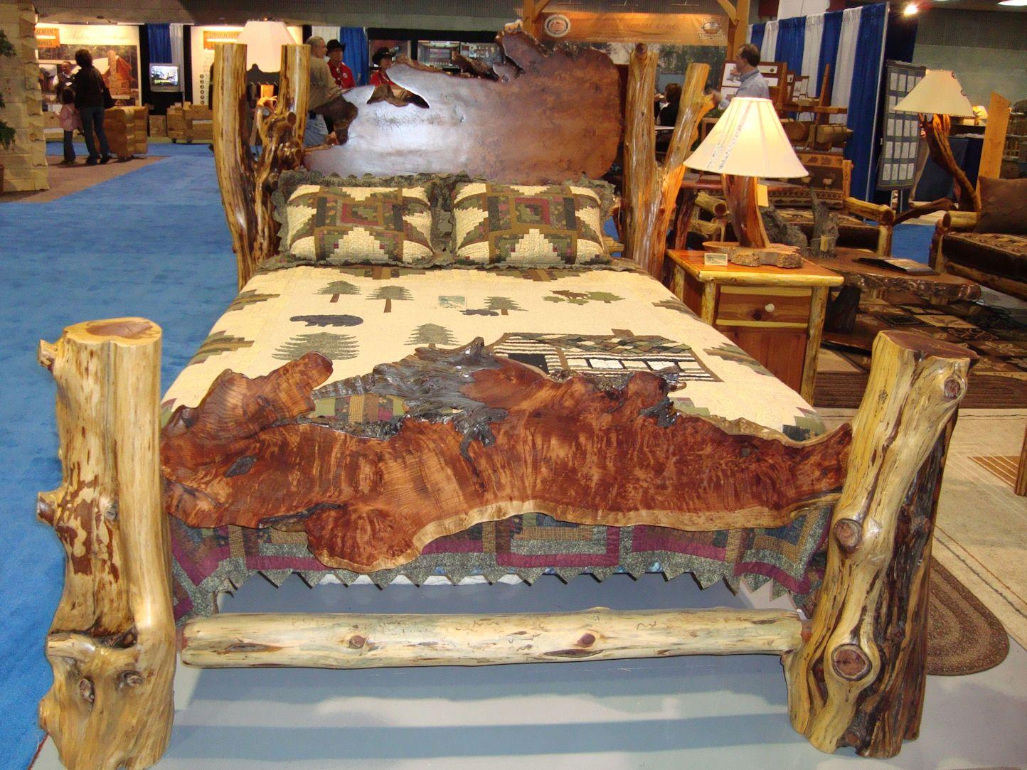 Cedar Log Furniture Plans | true handcrafted rustic log original ...