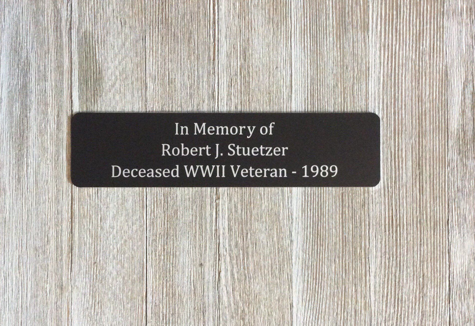 Outdoor Metal Plaque Memorial Bench