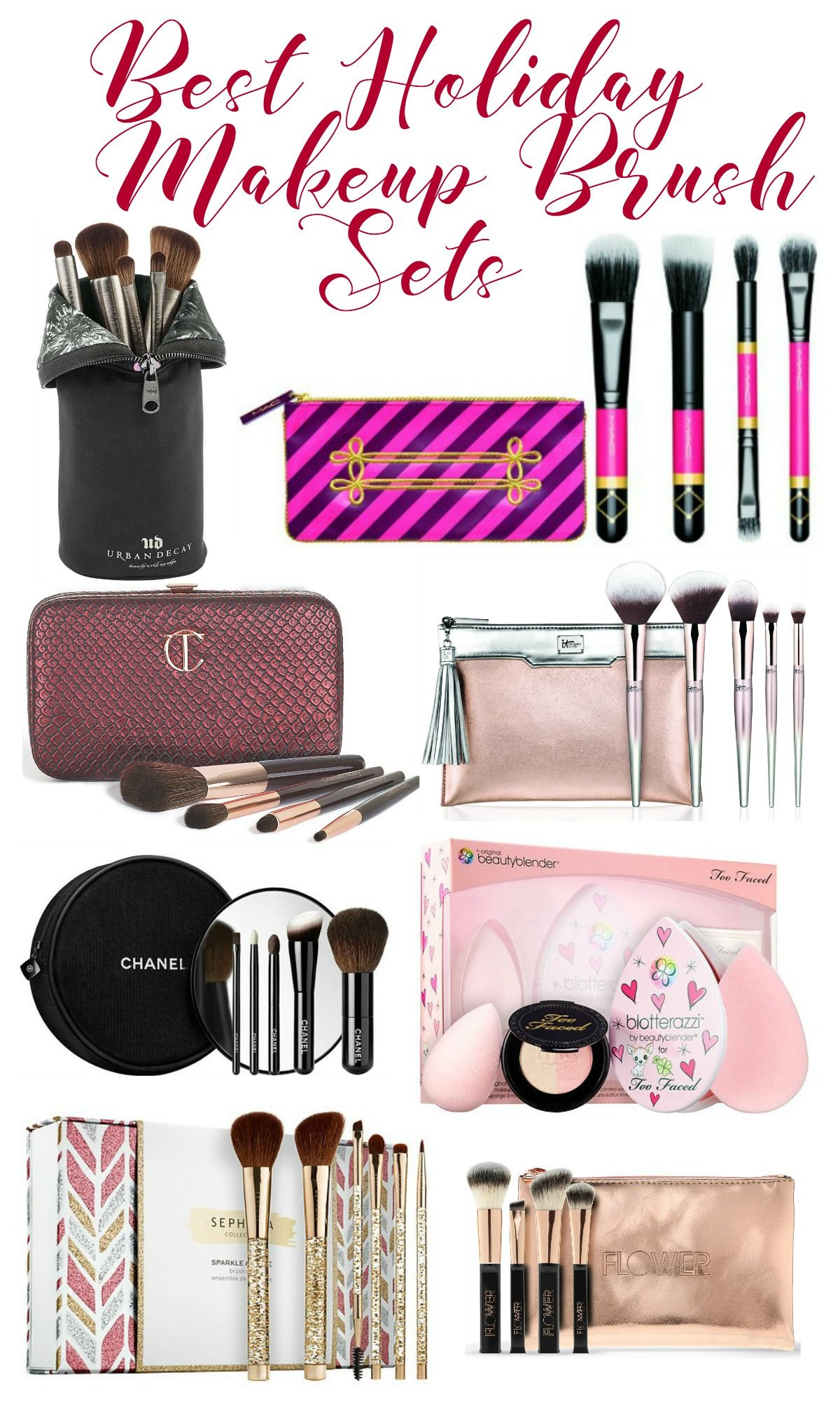 looking for a great last minute gift these makeup brush sets are pretty and practical