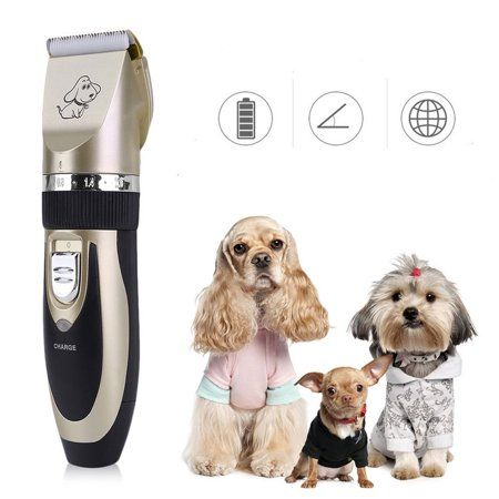 2017 New Pet Cats Dogs Hair Trimmer Grooming Clippers Kit Electric Rechargeable Cordless Low Noise Professional Pet Ha Dog Grooming Tools Dog Grooming Dog Hair