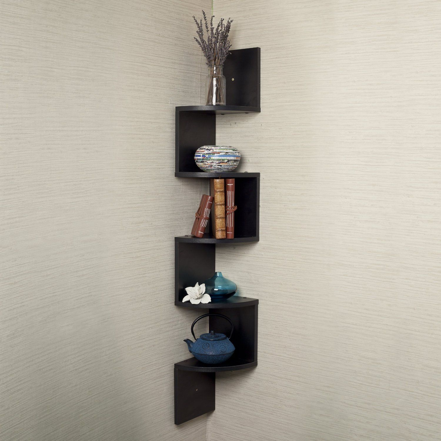 Corner Showcase Designs For Living Room Gorgeous Danya Blarge Corner Wall Mount Shelfblack Laminate  Living Inspiration Design