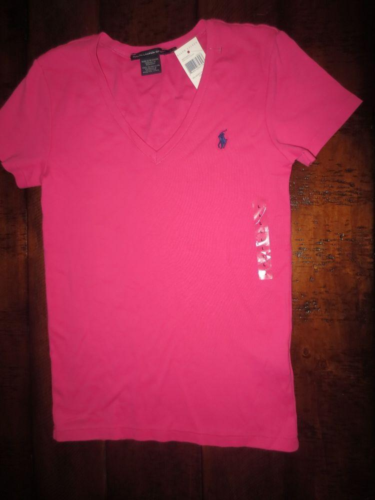 74827daa ... italy polo ralph lauren womens v neck t shirt large pink new  poloralphlauren basictee f1b3f 3eac9