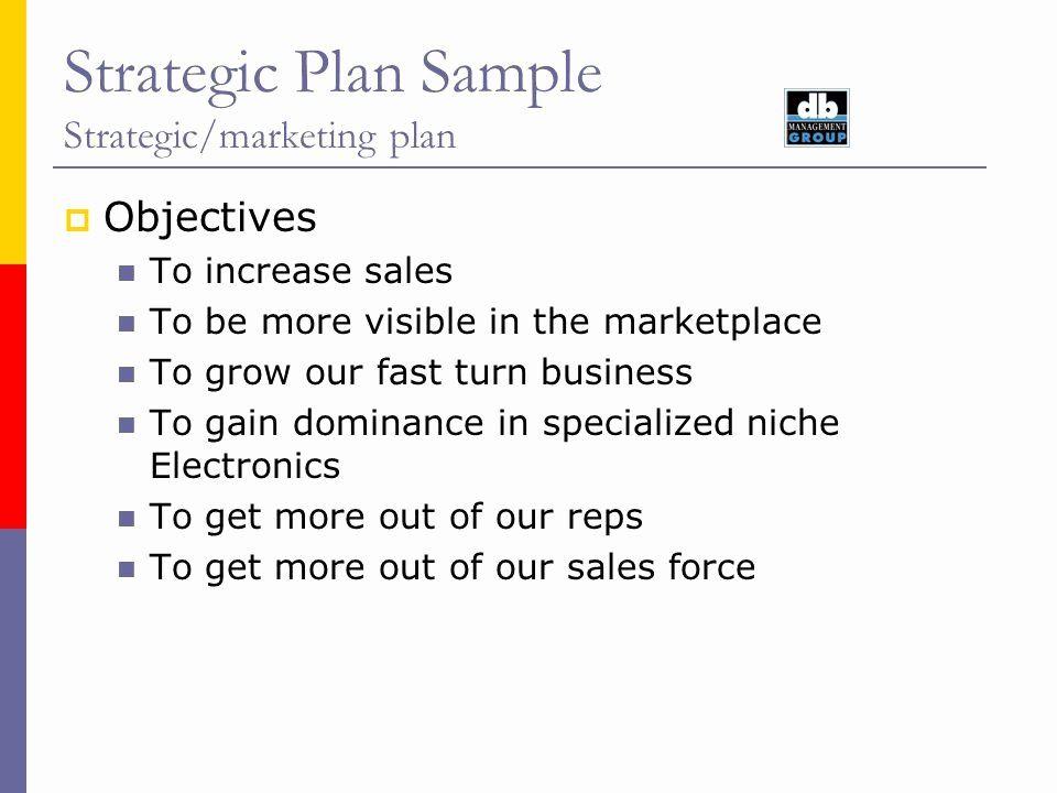 Strategic Sales Plan Template In 2020 Strategic Marketing Plan