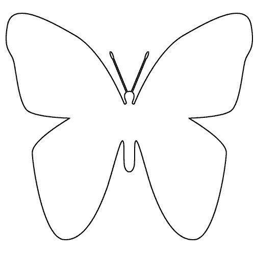 Toi moi nous en 2007 papillon mod le et bricolage enfant - Dessin papillon a decouper ...