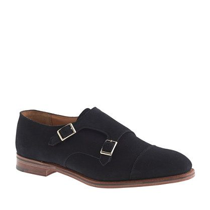 dd3e83617da44 J.Crew - Alfred Sargent™ for J.Crew monk strap shoes in navy suede $525