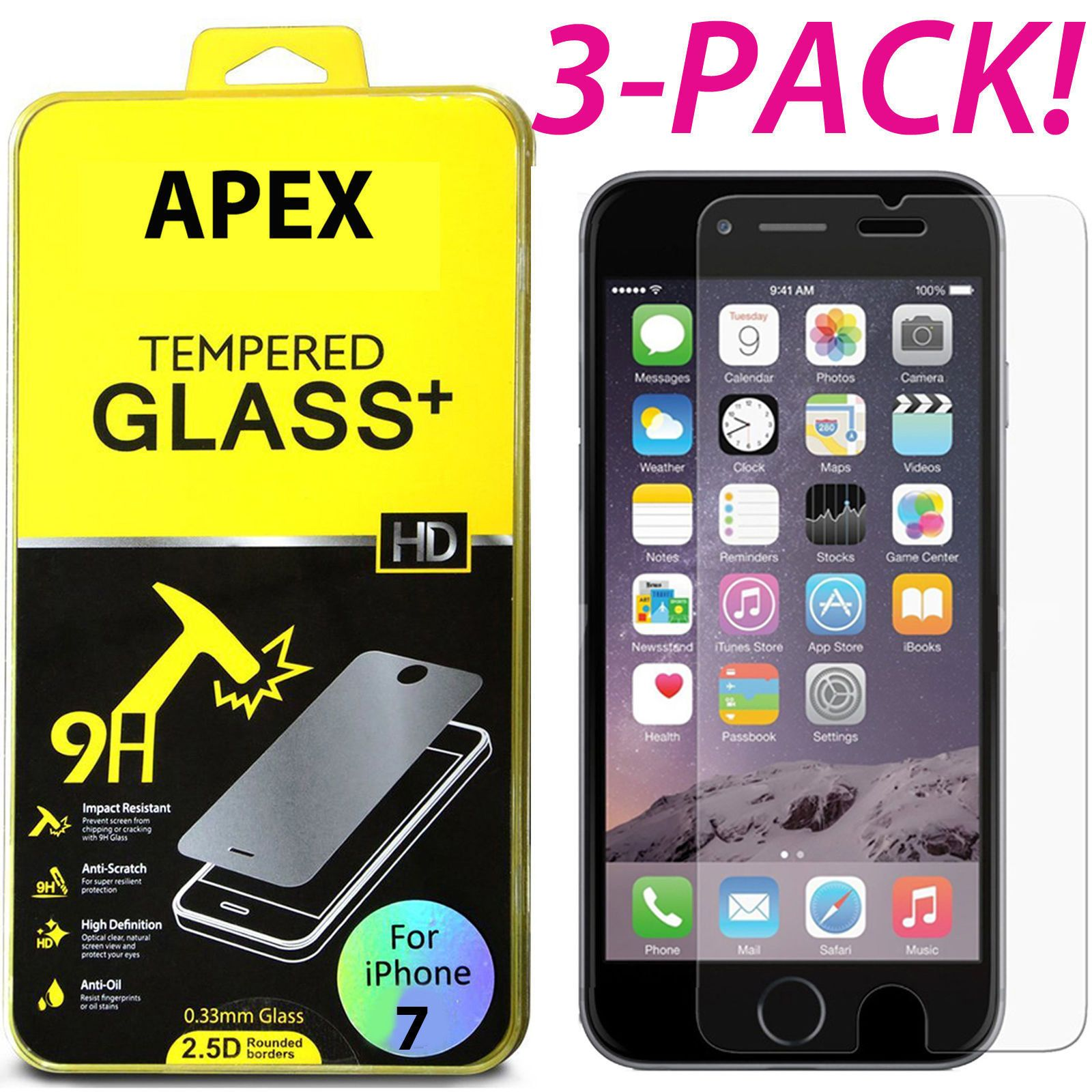 199 3pcs premium real tempered glass screen protector