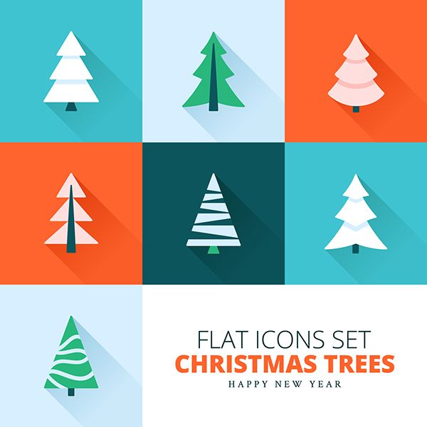 Christmas trees collection on Behance