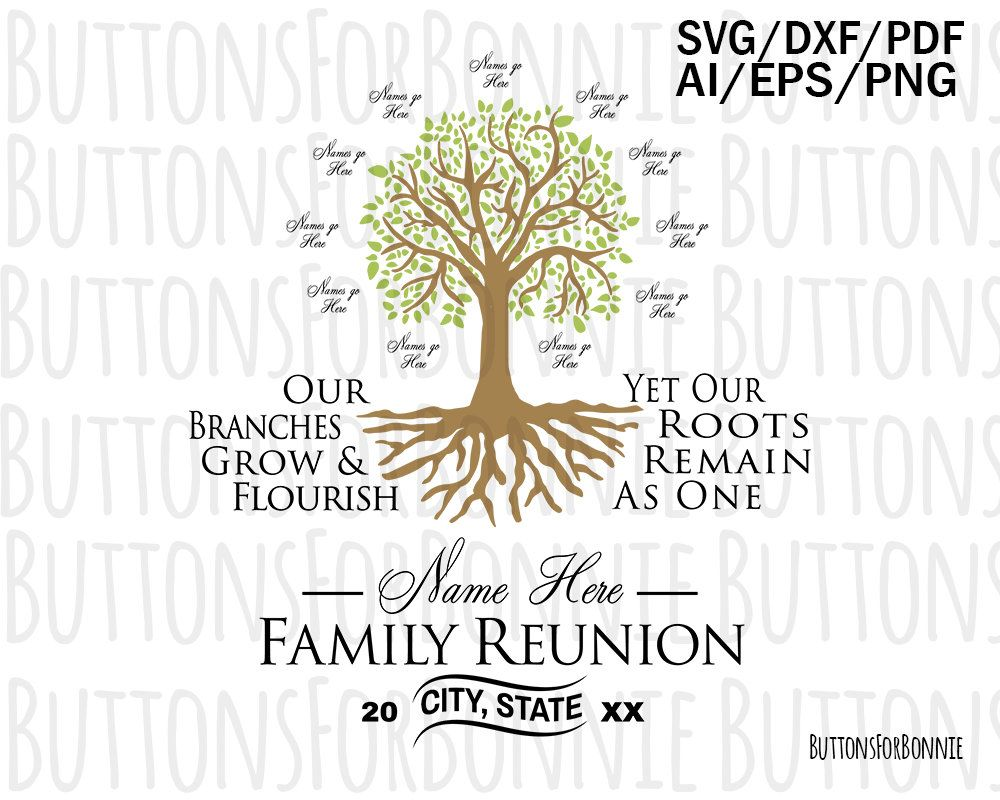 Family Reunion Svg Tree Svg Roots Svg Our Roots Remain One Etsy In 2021 Family Reunion Reunion Shirts Family Tree